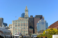 Boston Custom House in Financial District, USA Royalty Free Stock Photo