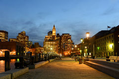 Boston Custom House at night, USA Royalty Free Stock Images