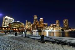 Boston Custom House at night, USA Royalty Free Stock Images