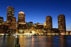 Boston Custom House at night, USA Royalty Free Stock Photos