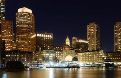 Boston Custom House at night, USA Stock Photos