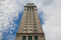 Boston Custom House Tower in late evening Stock Photography