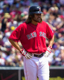 boston damon johnny Red Sox Arkivfoto