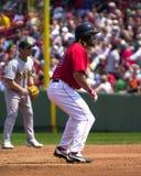 boston damon johnny Red Sox Arkivfoton