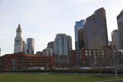 Boston de stad in Royalty-vrije Stock Foto's