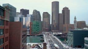 Boston do centro na manhã do inverno video estoque