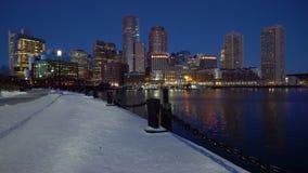 Boston do centro no nascer do sol vídeos de arquivo