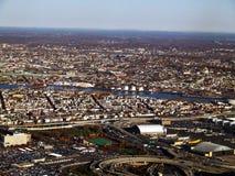 Boston do leste aérea Fotos de Stock Royalty Free