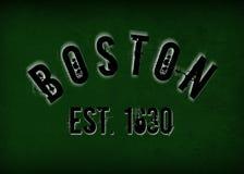 Boston, doctorandus in de letteren royalty-vrije illustratie