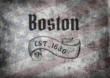 Boston, doctorandus in de letteren vector illustratie