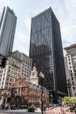 Boston, doctorandus in de letteren, de V.S. 06 09 2017 de Oude van het het Huis financiële district van de Staat Slachting van de Stock Foto