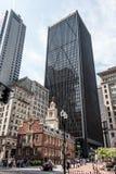 Boston, doctorandus in de letteren, van het het Huis financiële district van de Staat van de V.S. de Oude Slachting van de binnen Stock Afbeeldingen
