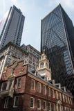 Boston, doctorandus in de letteren, van het het Huis financiële district van de Staat van de V.S. de Oude Slachting van de binnen Stock Fotografie