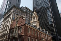 Boston, doctorandus in de letteren, van het het Huis financiële district van de Staat van de V.S. de Oude Slachting van de binnen Stock Afbeelding