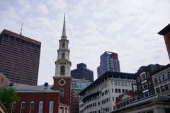 Boston downtown church stock photography
