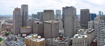 Boston downtown panorama, USA Royalty Free Stock Photography