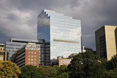 Boston downtown. And park panorama Stock Photo