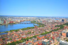 Boston downtown skyline at a bright sunny day. Boston, USA downtown skyline at a bright sunny day stock images