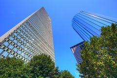 Boston downtown skyline at a bright sunny day. Boston, USA downtown skyline at a bright sunny day stock photo