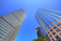 Boston downtown skyline at a bright sunny day. Boston, USA downtown skyline at a bright sunny day royalty free stock image