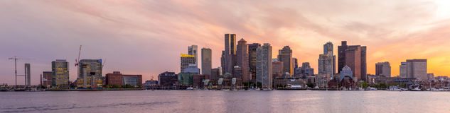 Boston downtown skyline panorama Stock Images