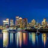 Boston downtown skyline panorama Stock Photography