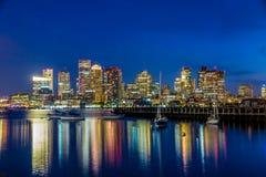 Boston downtown skyline panorama Royalty Free Stock Photo