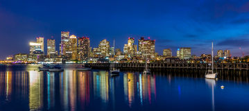 Boston downtown skyline panorama Royalty Free Stock Photo
