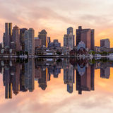 Boston downtown skyline panorama Royalty Free Stock Images