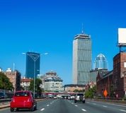 Boston downtown street traffic Massachusetts. Boston downtown street car traffic in Massachusetts USA Stock Image