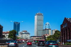 Boston downtown street traffic Massachusetts Royalty Free Stock Photo