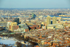 Boston downtown West End in winter, Massachusetts, USA Stock Images