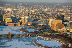 Boston downtown West End in winter, Massachusetts, USA Stock Photos