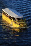 Boston Duck Tour boat on the river,Summer,2013 Stock Photo