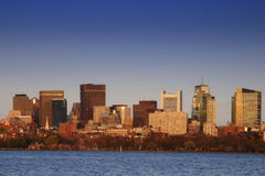 Boston at Dusk Royalty Free Stock Image