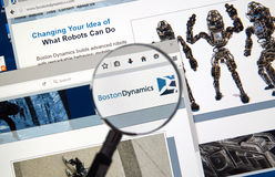 Boston Dynamics web page Royalty Free Stock Photos