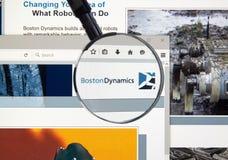 Boston Dynamics web page Stock Photography