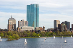 Boston en el resorte imagen de archivo libre de regalías