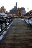 Boston en la puesta del sol Fotografía de archivo