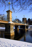 Boston en nieve Imagen de archivo