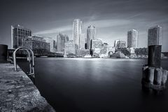 Boston en noir et blanc Photo stock