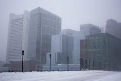 Boston en una nevada Imágenes de archivo libres de regalías