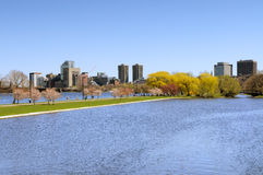 Boston Esplanade. In the spring Stock Photography