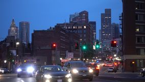 Boston, Etats-Unis - 18 juin 2018 : Vue de rue de Boston la capitale et la plupart de municipalité populeuse du Commonwealth banque de vidéos