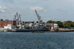 Boston EUA massachusetty 06 09 2017- Do contratorpedeiro novo da classe de USS Cassin marco histórico nacional Fletcher Imagens de Stock Royalty Free