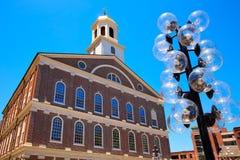 Boston Faneuil Pasillo en Massachusetts los E.E.U.U. fotos de archivo libres de regalías