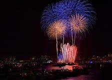 Boston-Feuerwerk 1 lizenzfreies stockfoto