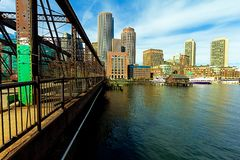 Boston Financial District Royalty Free Stock Photography