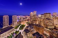 Boston Financial District Cityscape Stock Photos