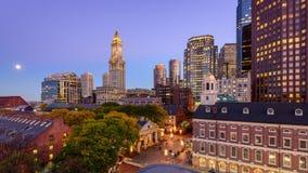 Boston Financial District Cityscape stock video footage